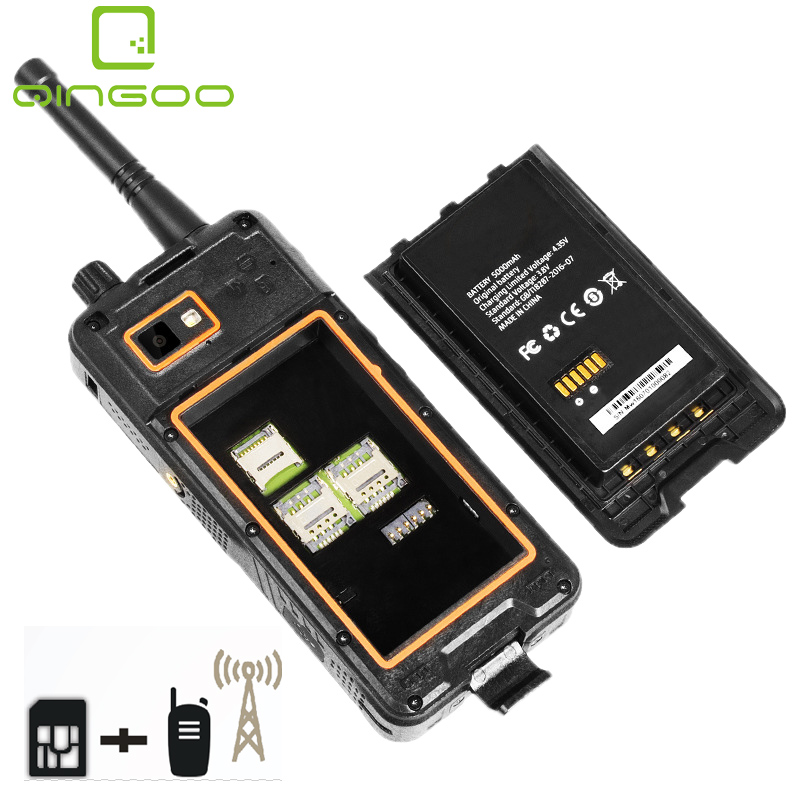 Qingoo Quality PoC Walkie Talkie Android phone GSM 3G/4G/LTE/TDD/FDD WiFi Digital land mobile radio