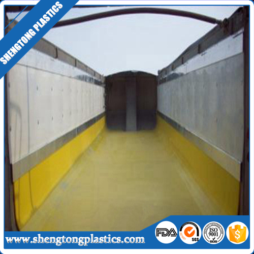 uhmwpe material low frictional liner sheet for discharging wagon