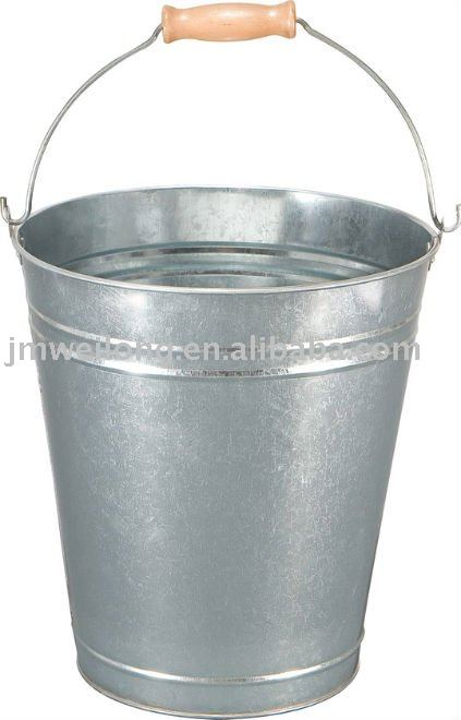 10L Metal Bucket, Galvanized Bucket