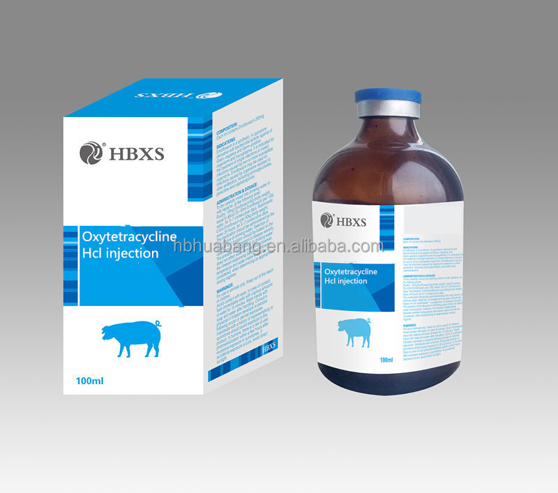 Antibiotic for Beef Cattle, Non-Lactating Dairy Cattle and Swine Oxytetracycline Hcl injection