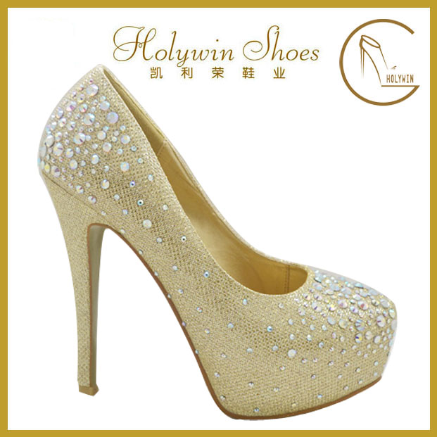 2014 Latest fashion women high heel shoes with crystal