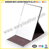 China Manufacture High Quality Folding Desktop PU Leather Makeup Mirror ,Home Office School Makeup Mirror