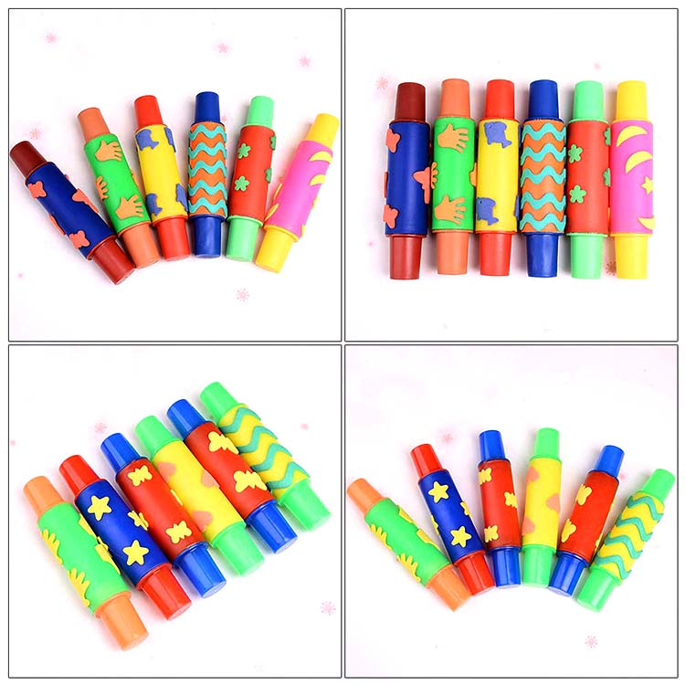 DIY craft alphabet eva foam rubber roller stamp set toys for kids