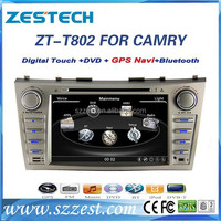 ZESTECH CE certification and 8 inch 2 din car dvd for Toyota Camry 2007 2008 2009 2010 2011 Facotry OEM with GPS BT Radio DVD 3g