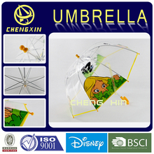 Full screen printing clear dome transparent umbrella for kids