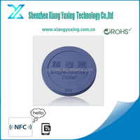 Cheap free sample ABS 125khz lf rfid coin tag for metro / bus