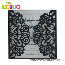 INC43 laser cutting wedding decoration hot new products honeycomb paper chinese wedding invitation fancy wedding invitation card