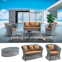 Chinese furniture garden wicker furniture used hotel outdoor furniture sofa set