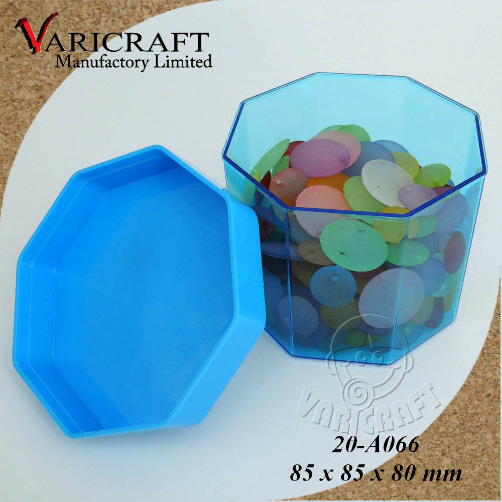 100% Food Grade Clear plastic octagon shaped candy container / case / box