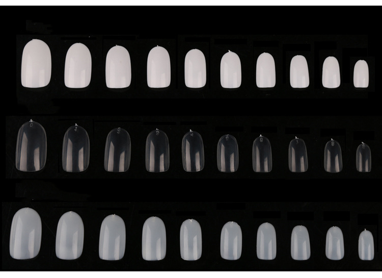 Wholesale 600pcs/bag Oval full cover Nail Tips Acrylic Artificial False Nails
