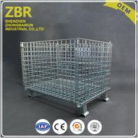 Collapsible Bulk Metal Mesh Containers Wire Rigid Pallet Folding Container