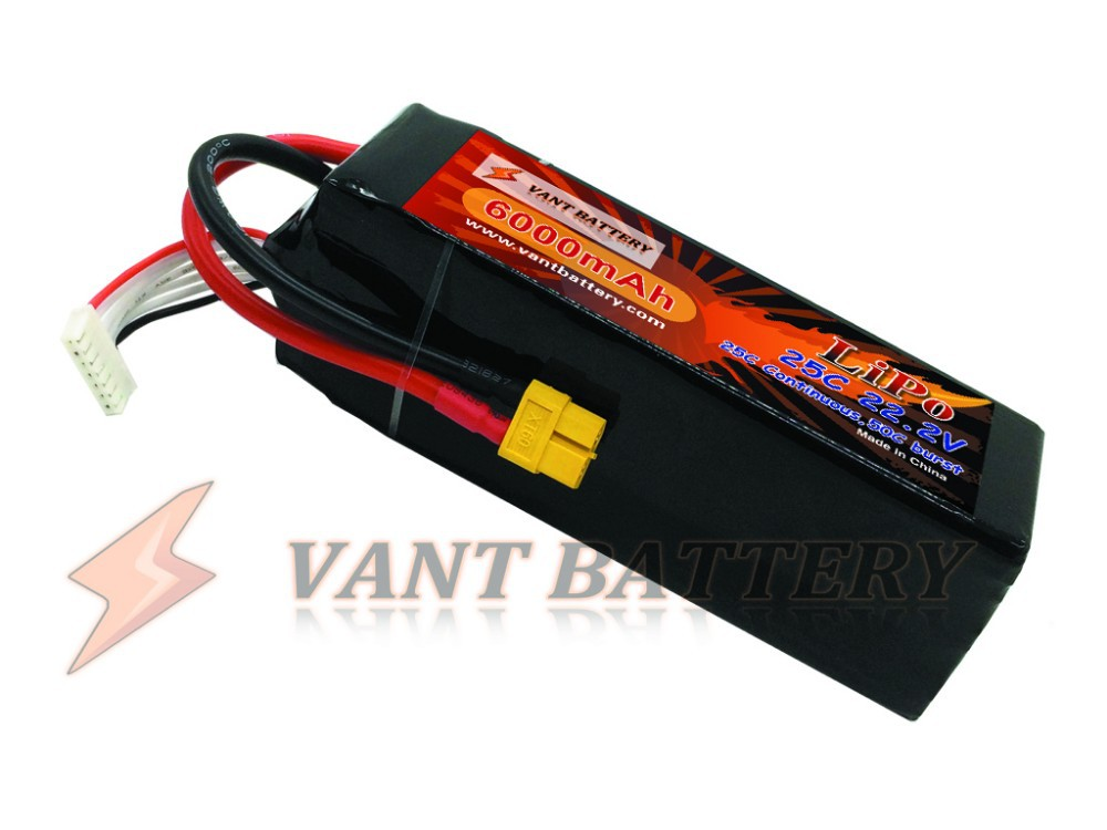 lipo battery manufactory lightest battery in the market 22.2V 6000mah lipo rc lipo battery pack 25C For F3C,gaint scale,etc