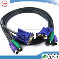 1x VGA Monitor and 2x PS2 Keyboard Mouse Male kvm Cable for kvm switch