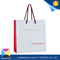 Eco friendly Promotion Custom fashion square bottom cheap paper bag printing for shop