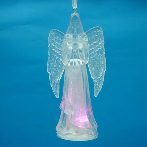 latest christmas decorations hanging acrylic led lighted beautiful angels
