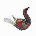 Free form full handmade glass bird