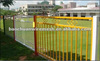 1.5*2.4m 3 rail steel fence with antique wrought iron fence panels Anping Baochuan factory