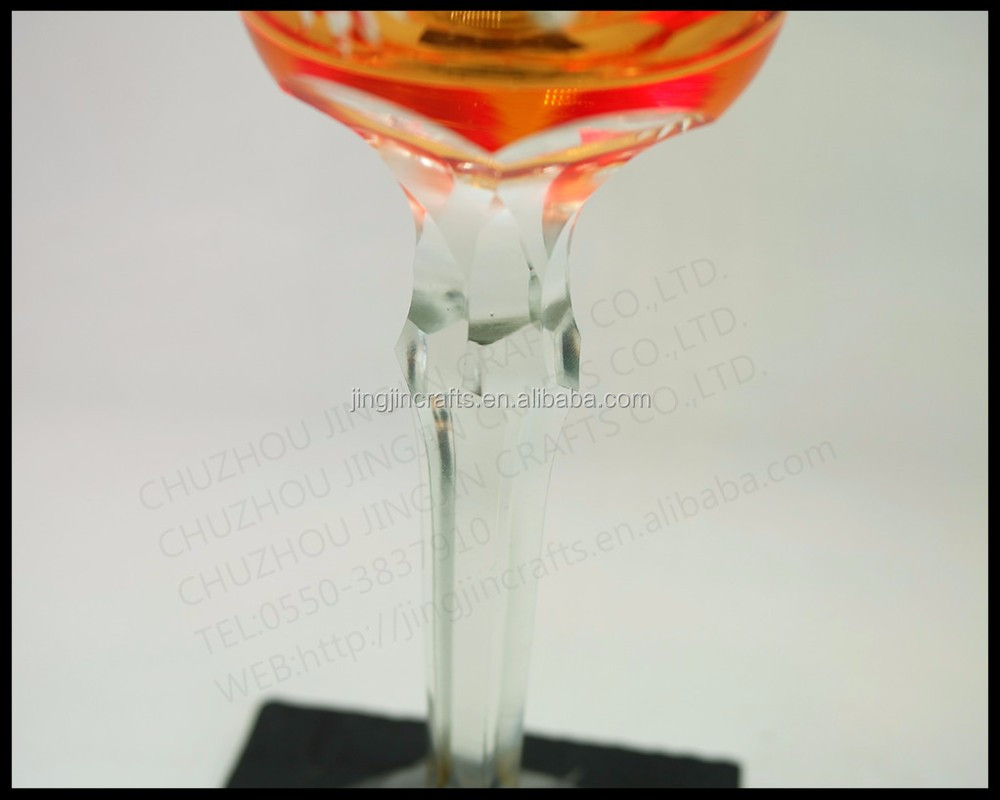 Hand cut 8oz Christmas champagne flutes glass wine cup Edo Kiriko cup