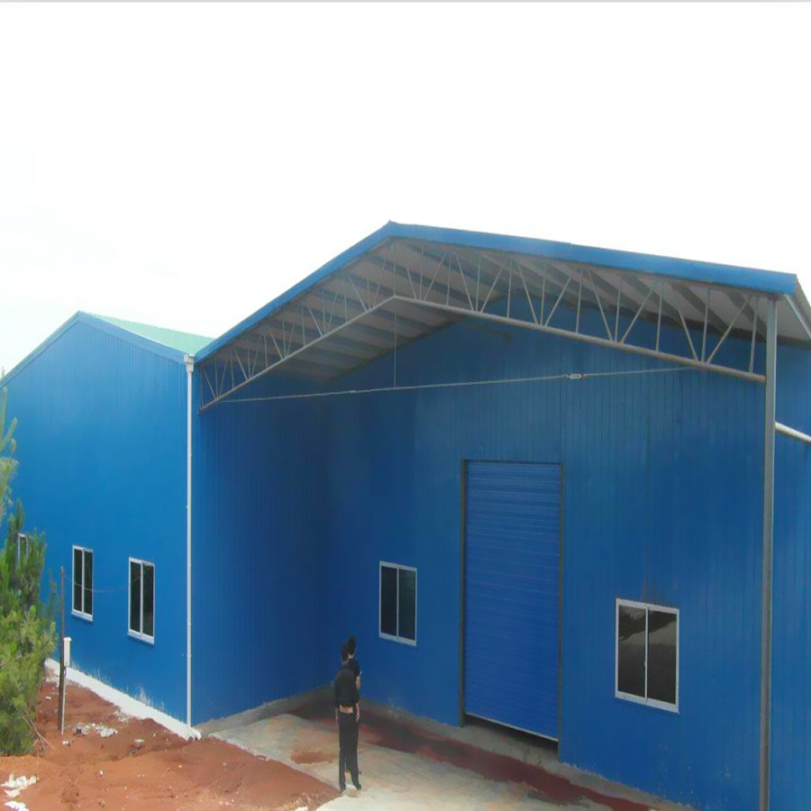 Sandwich Panel Wall And Roof Cladding Hot Rolled Structural Steel Prefabricated Warehouse Buildings For Sale