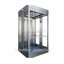 Square panoramic round glass passenger lift 800kg price