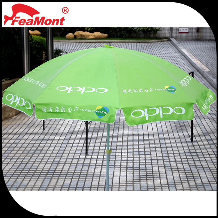 Professional manufacture cheap beach happy umbrella for used mobile phone advertisement