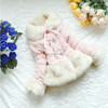 High Quality Warm Autumn&Winter Children Outerwear Toddler Baby Girls Faux Fur Coats Fashion Jacket for Kids