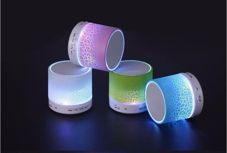 Mini bluetooth speaker S10 with LED light,high quality stereo portable wirelss speaker