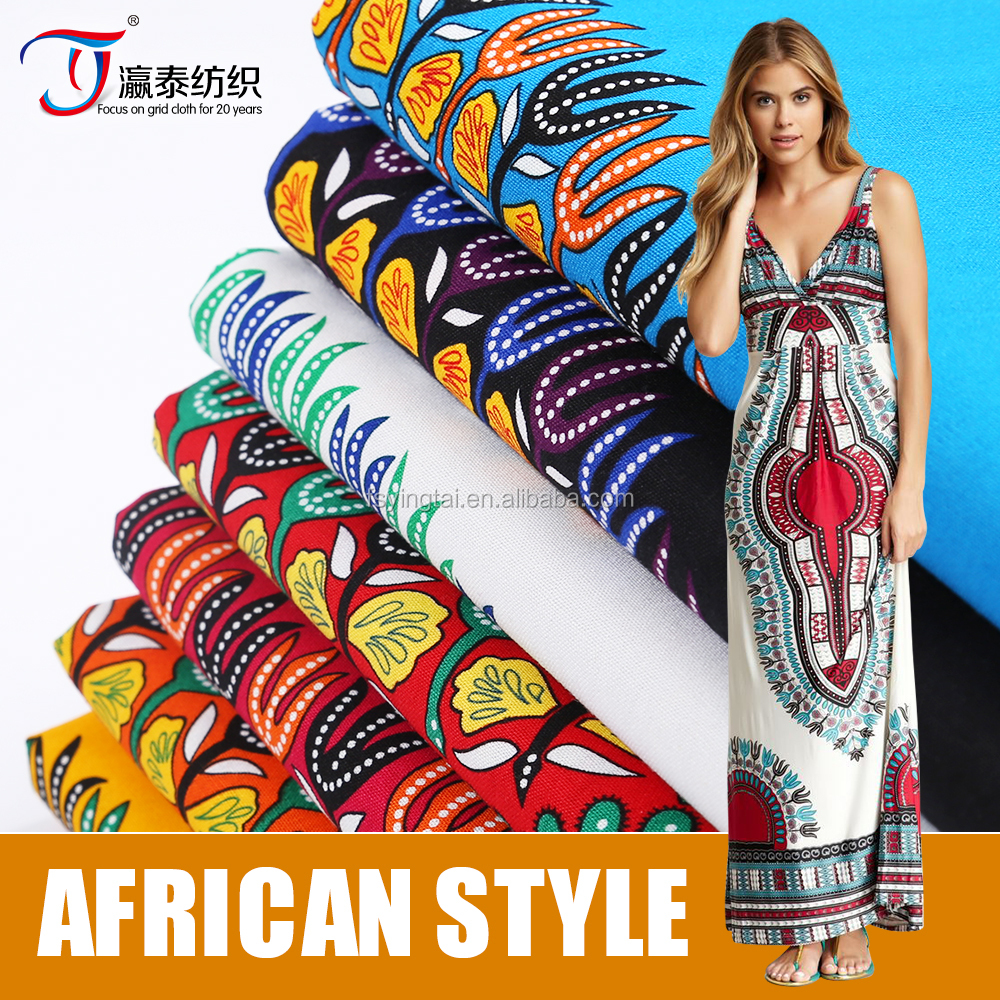 2016 new arrival african 100% cotton poplin printing fabric for Baby Clothes,Garment,T shirt etc