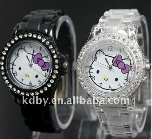KD-F8217 slim stones hello kitty quartz watch