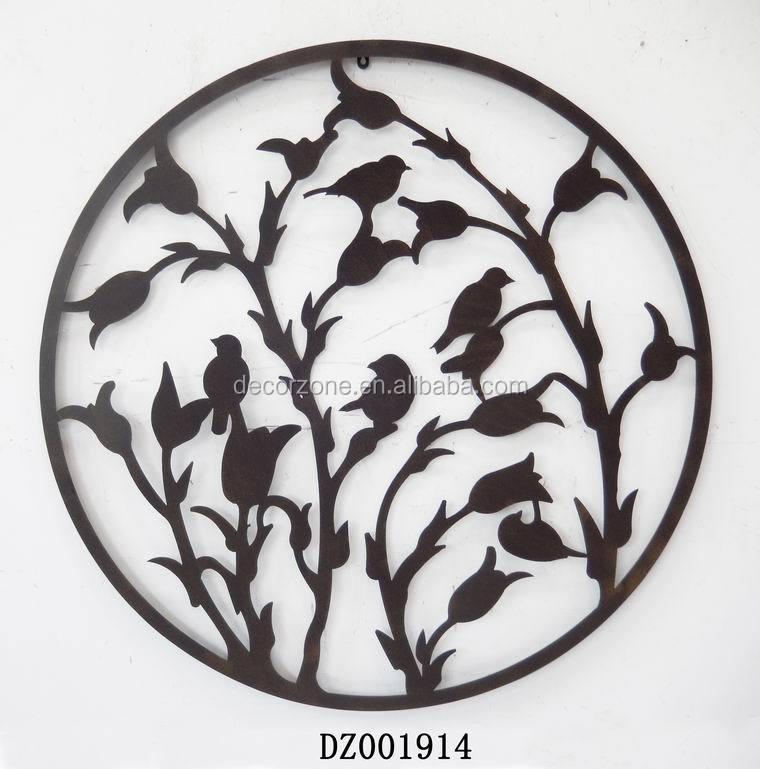 Wrought Iron Wall Decor Flowers : Antique decorative tree metal wall art decor buy