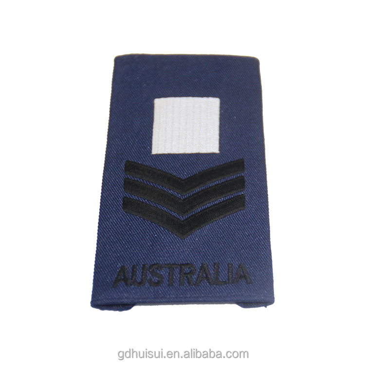 Custom design royal navy embroidered epaulette of shoulder boards