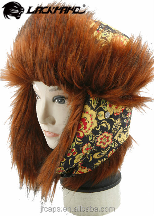 Ear protection winter warm hunting hat with long plush