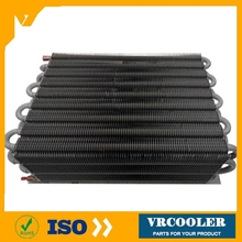 ss 304 tube fin type condenser tube and fin water cooled condenser
