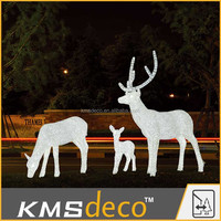 100%handmade outdoor commercial christmas reindeer lights for park/shopping mall decoration