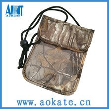 high quality waterproof camo travel document bag for outdoor sports