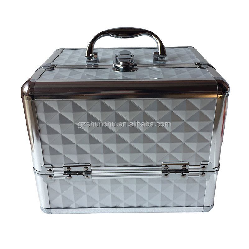 Storage case for jewelry personalized hard portable aluminum jewelry box