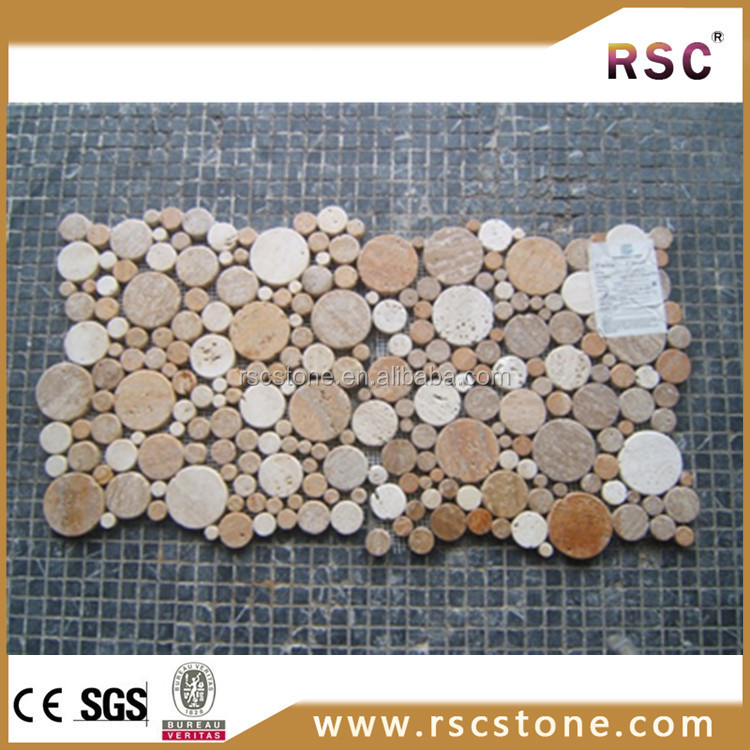 Kitchen accessories beige travertine marble mosaic