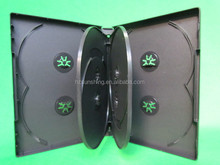 wholesale black pp dvd case holding 8discs with 2 double tray