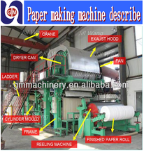 1092mm 2-3tpd video of the paper making machine process videos production line