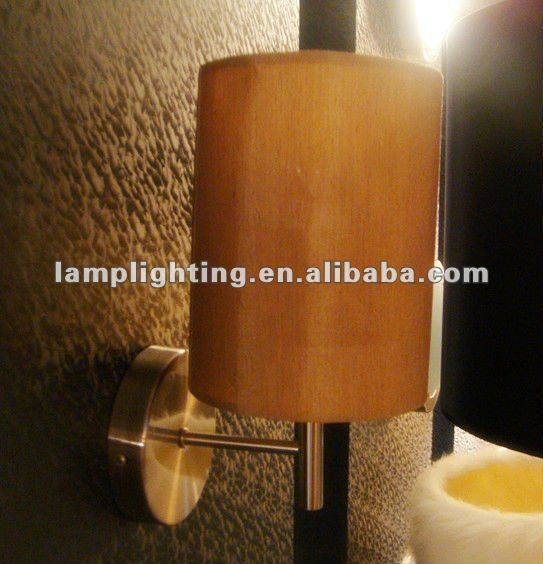Small fabric shde wall light for corridor