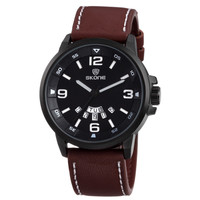 Fashion Dual Movt Japan Leather Men Wrist Watches
