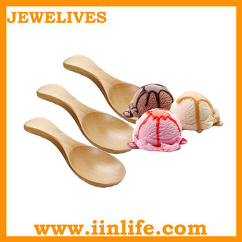 Wholesale small wooden ice cream spoon crafts