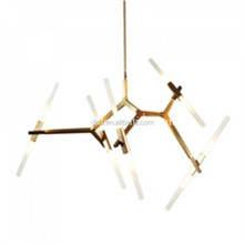 Italy modern simple gold LED glass chandelier for home/project lighting