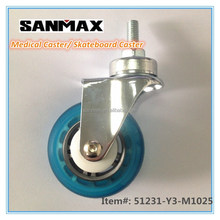 "Sanmax factory direct sale 3"" medical caster pu , swivel caster wheels"