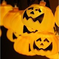 Halloween 3D 20 LED 16.4ft Decorations Lighting halloween Pumpkin String Lights For Party Decor