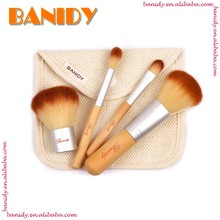 Free Sample Human Synthetic Hair Makeup Brush Set Mini Bamboo Cosmetic Brush