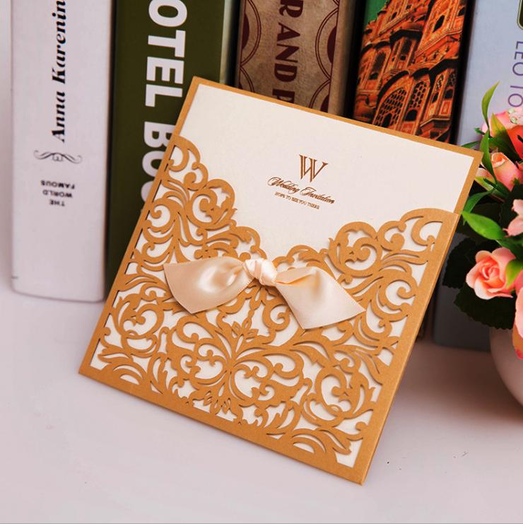 Luxury Wedding Invitation Card Design