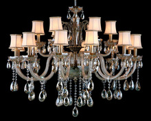 European Style chandeliers and pendant lights,vaille crystal chandelier from zhongshan with shade
