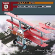 "hot sale 1:72 scale zinc alloy material FOKKER DR 1""BARON ROJO"" toy aircaft plane models diecast modelling for collection"