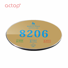 electronic hotel room door number /name plates